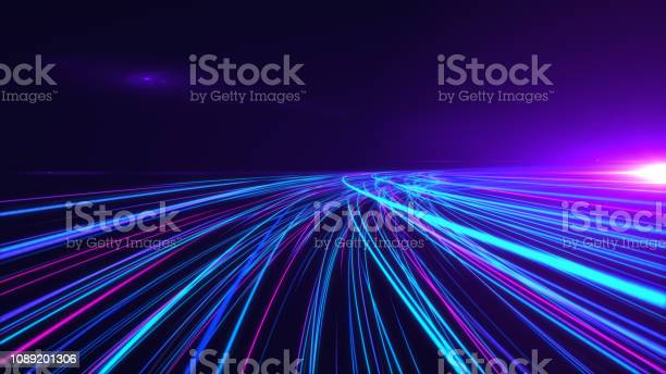 Photo of High Speed lights Tunnel motion trails