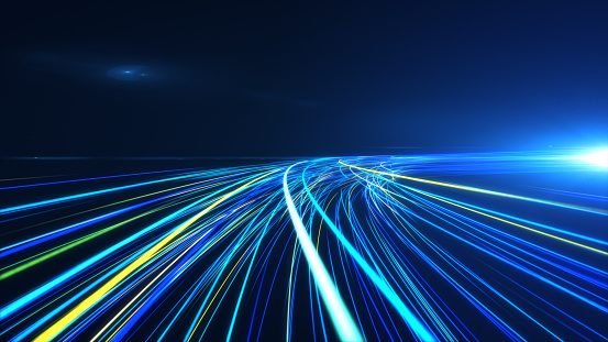 1089201306 istock photo High Speed lights Tunnel motion trails 1089201340