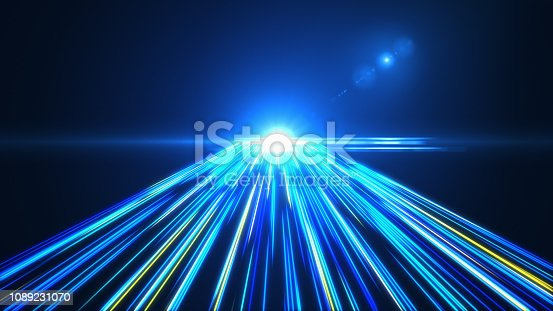 1089201306 istock photo High Speed lights Tunnel motion trails 1089231070