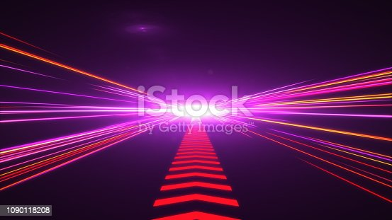 1089201306 istock photo High Speed lights Tunnel motion trails 1090118208
