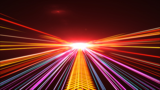 1089201306 istock photo High Speed lights Tunnel motion trails 1090121794