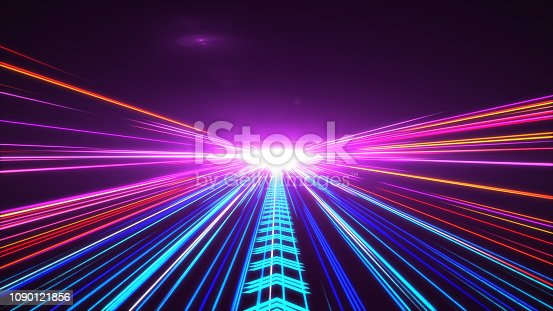 1089201306 istock photo High Speed lights Tunnel motion trails 1090121856