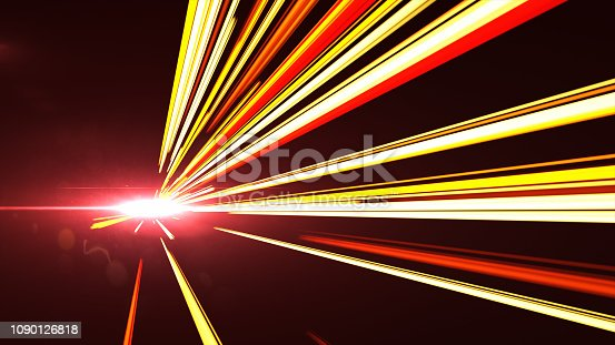 1089201306 istock photo High Speed lights Tunnel motion trails 1090126818