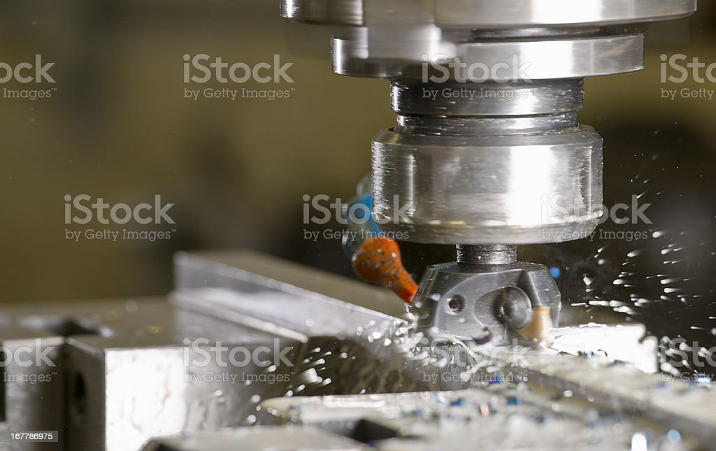 High speed metal milling machine stock photo