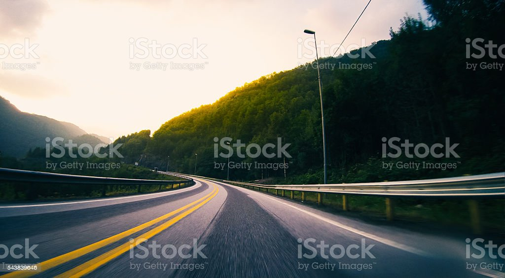 High Speed Motorways of Norway stock photo