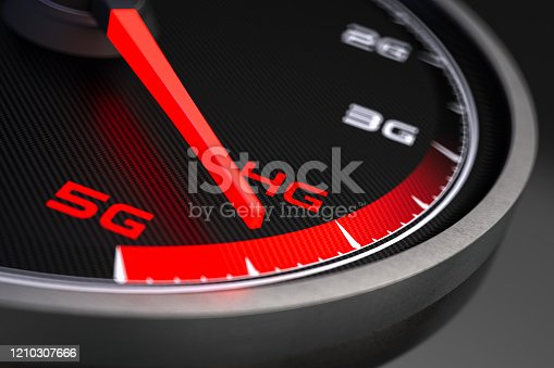 istock 5G High Speed Network Connection Speedometer 1210307666