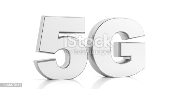 istock 5G High speed network connection wifi isolated against white background. 3d illustration 1083379184