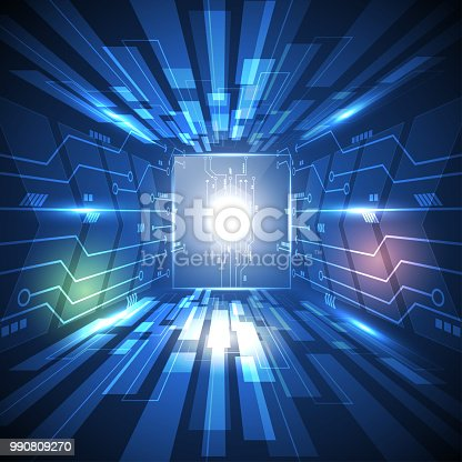 584751238istockphoto High speed technology circuit concept. abstract background 990809270