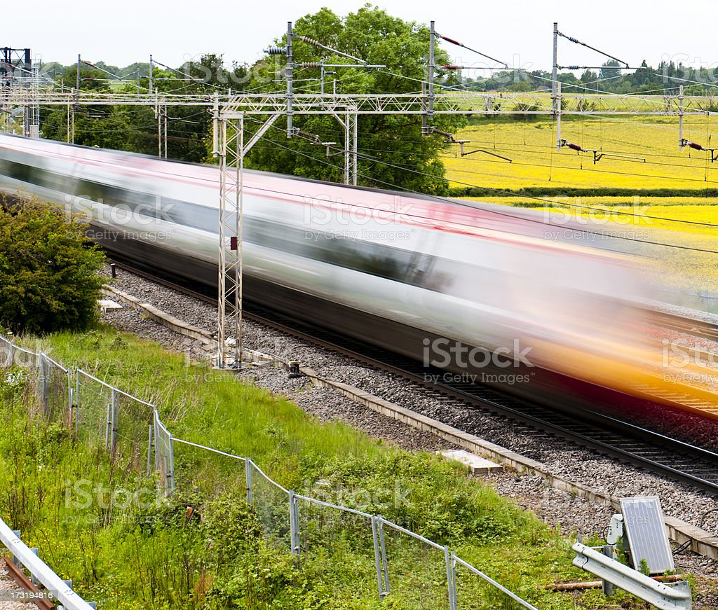 High Speed Train HS2 stock photo