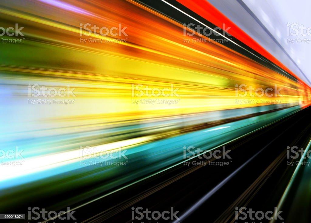 high speed train motion blur stock photo