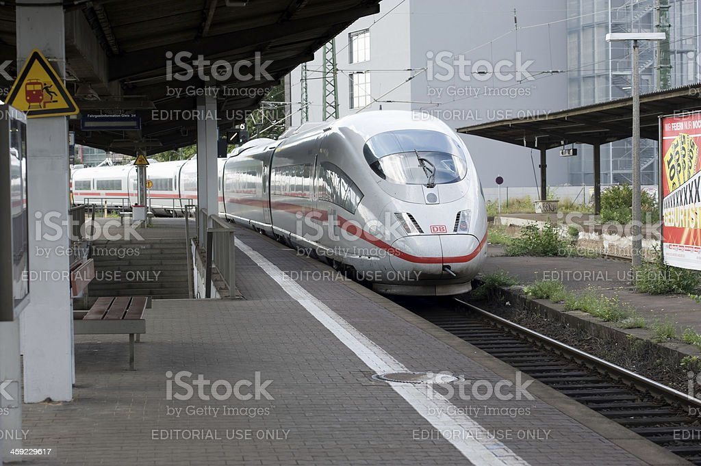 ICE High Speed Train stock photo