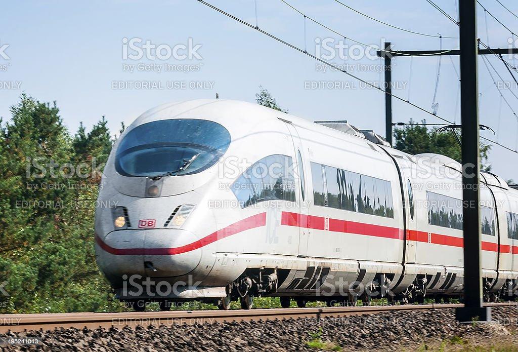 ICE High Speed Train stock photo