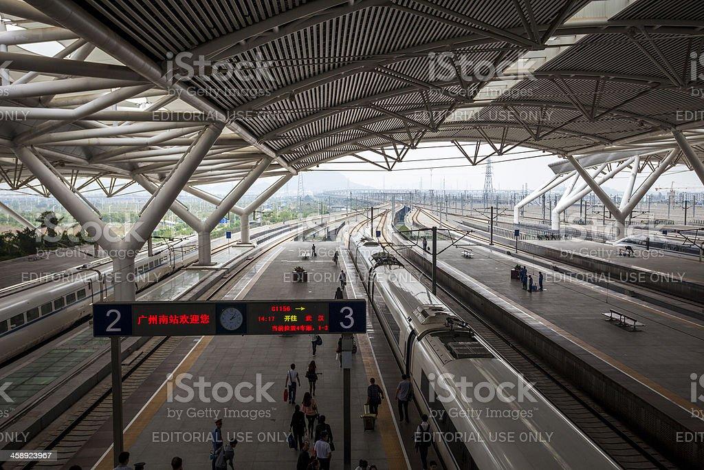 High speed train Station, Guangzhou, China royalty-free stock photo