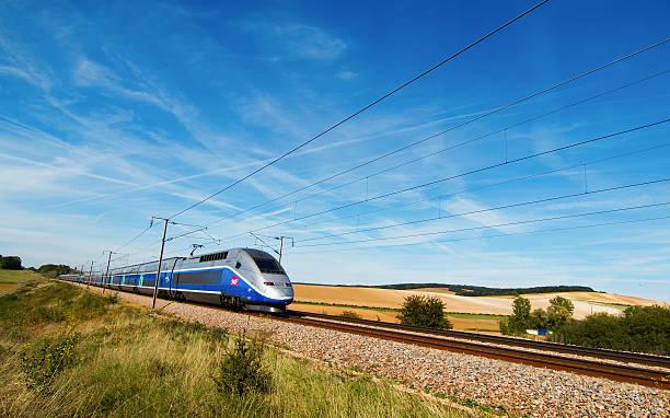 High speed train TGV stock photo