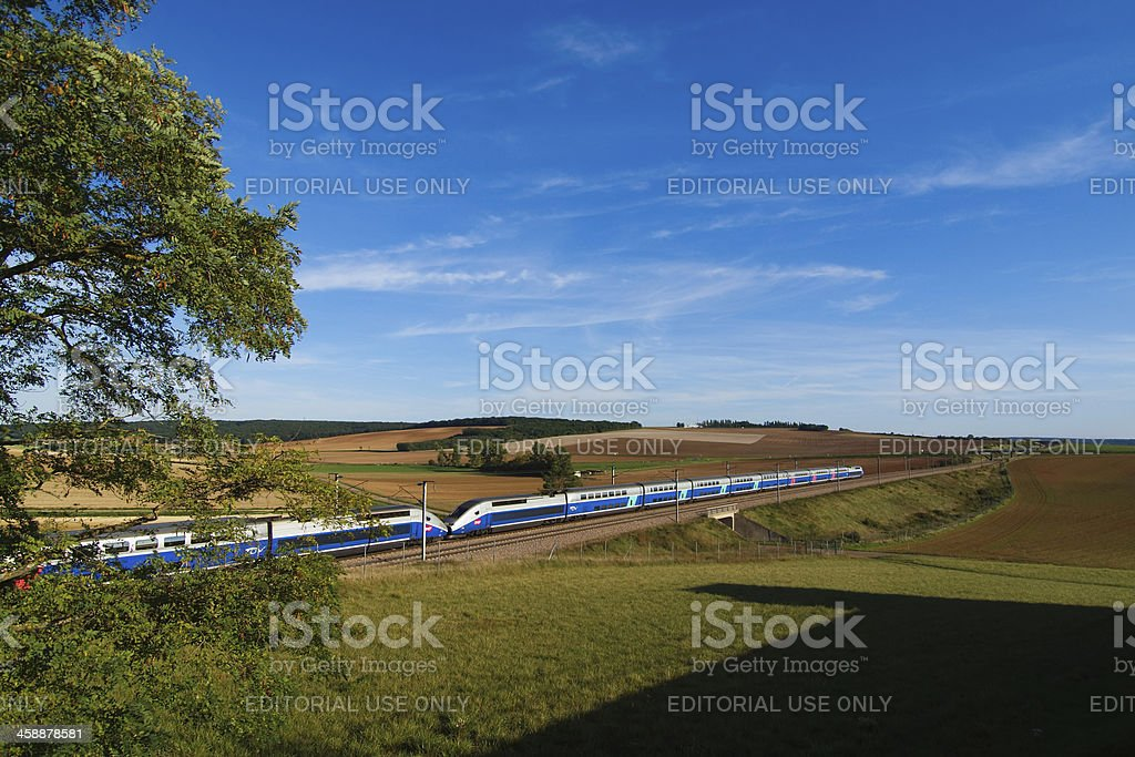 High speed train TGV stock photo