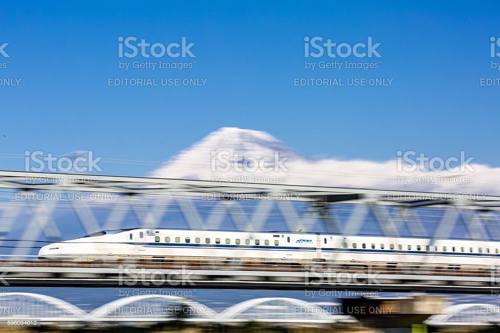 high speed train with motion blur royalty-free stock photo