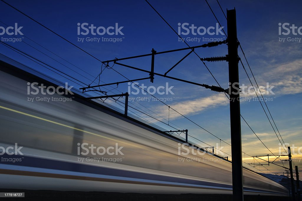 High Spped Train royalty-free stock photo