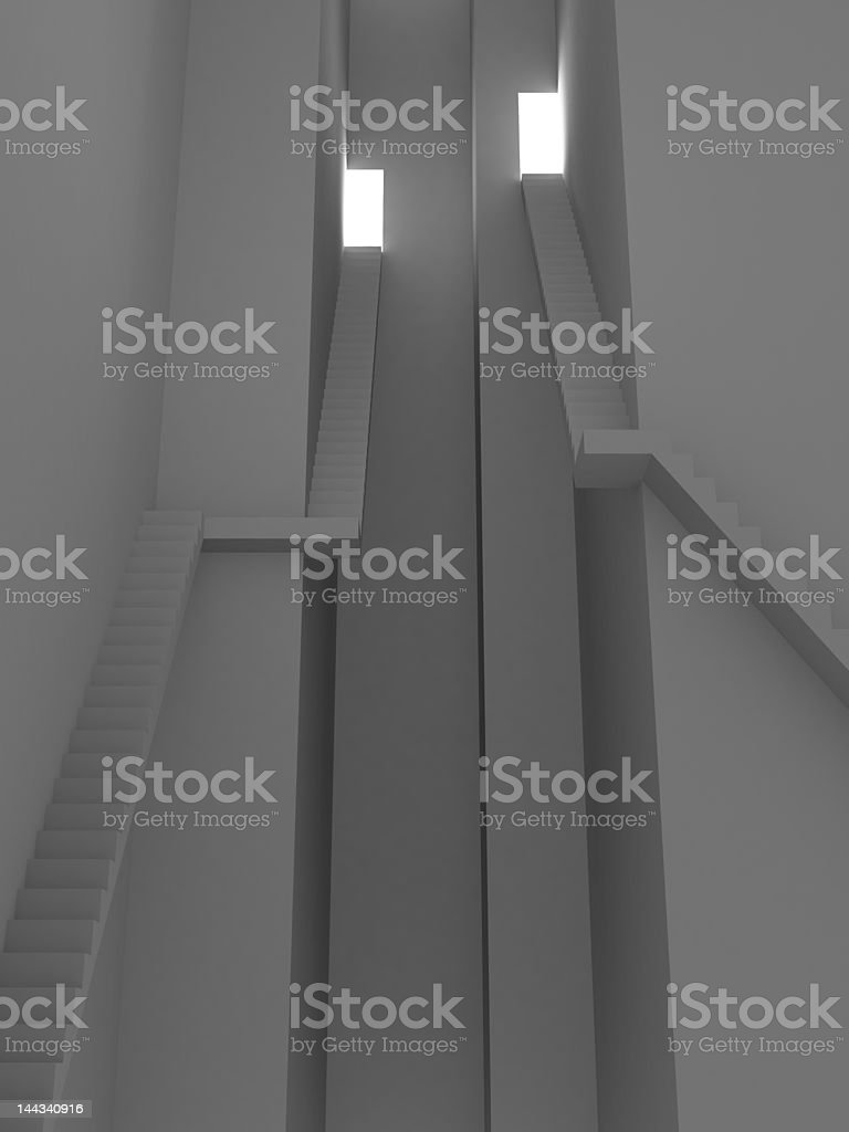 High stairs royalty-free stock photo