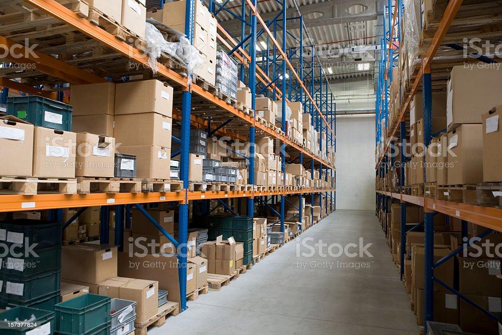High storage rack warehouse royalty-free stock photo