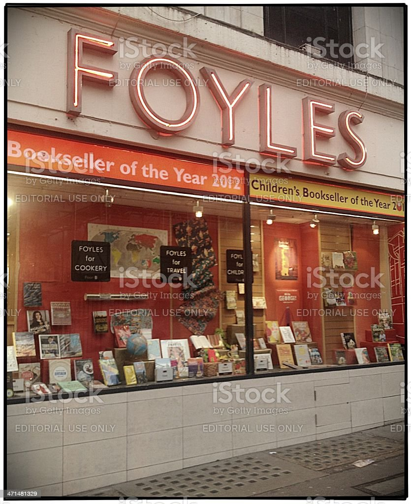 High Street Brands: Foyles Bookshop, London royalty-free stock photo