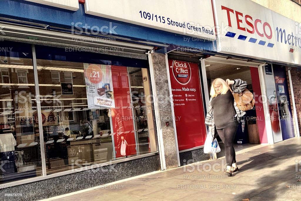 High Street Brands: Tesco Metro, London, UK. royalty-free stock photo