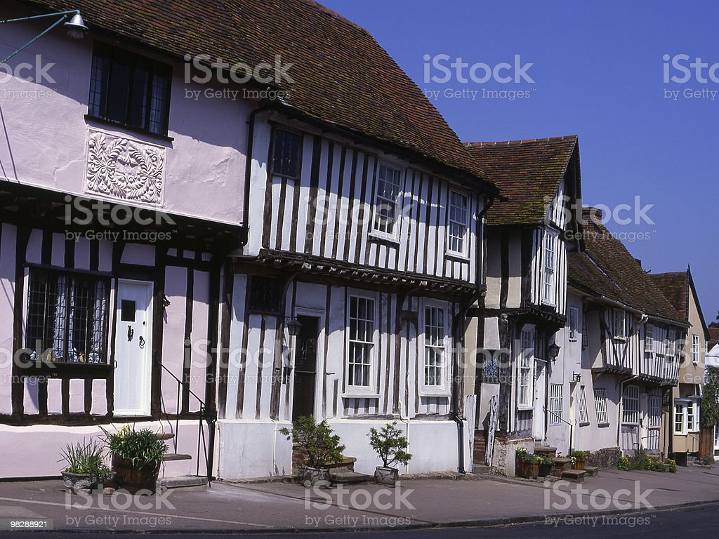 High Street in Lavenham. Suffolk. England royalty-free stock photo