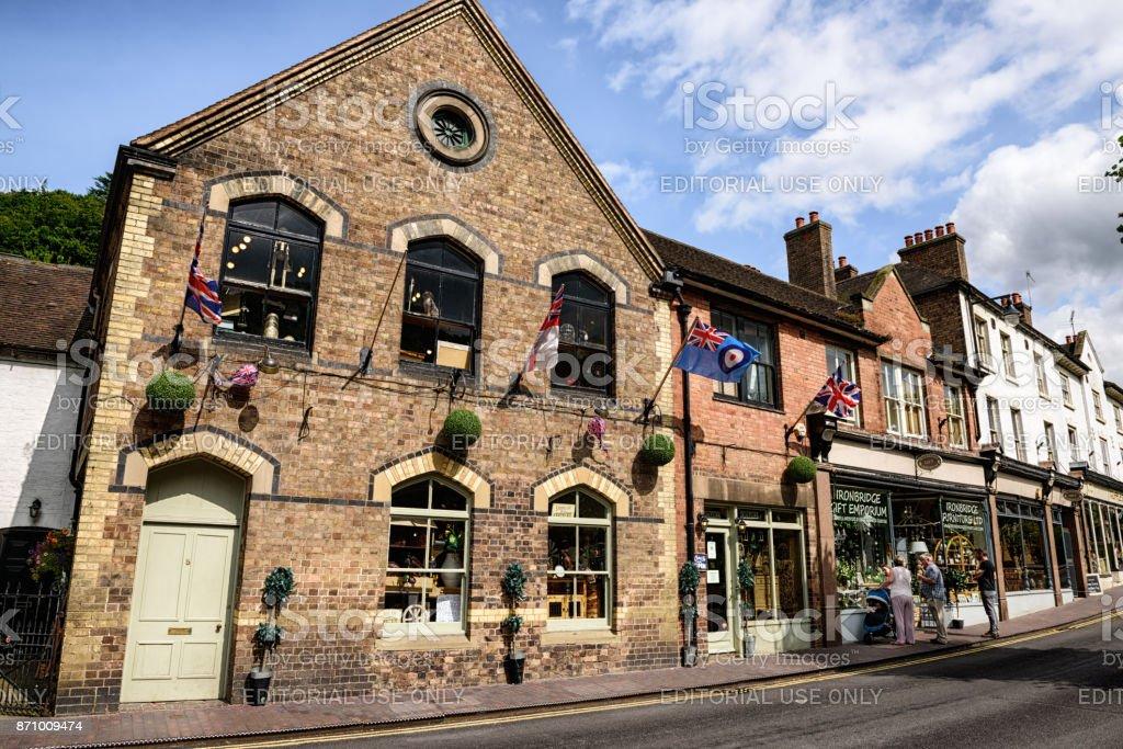 High Street,  Ironbridge, Shropshire, England stock photo