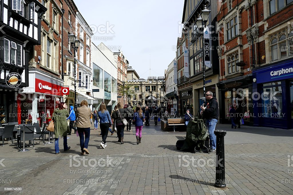 High street, Lincoln. stock photo