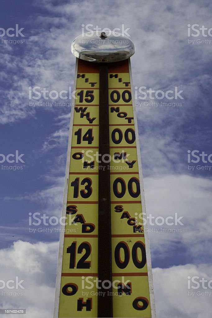 High Striker Fairground Strength Tester stock photo