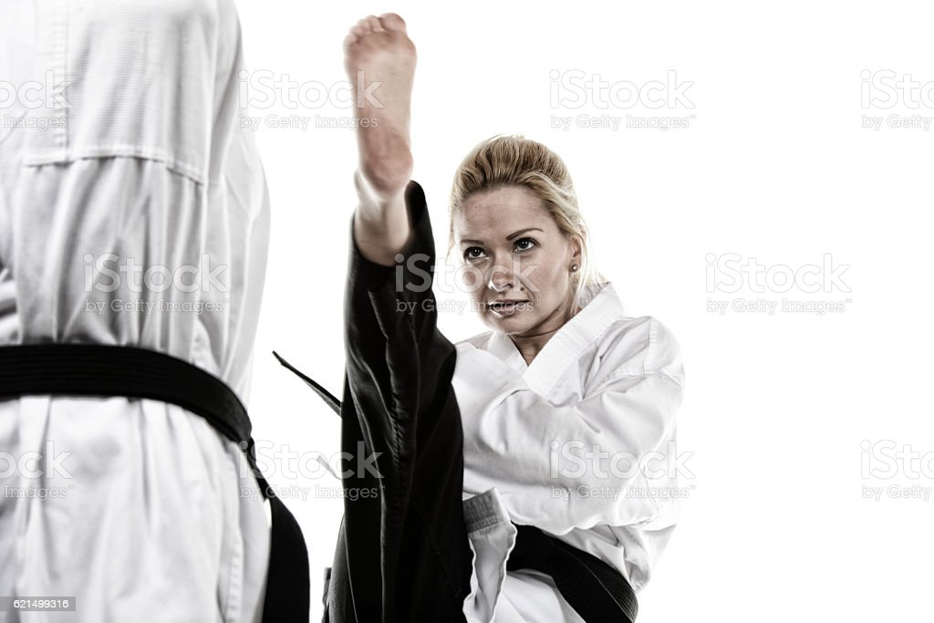 High Sweeping Kick photo libre de droits