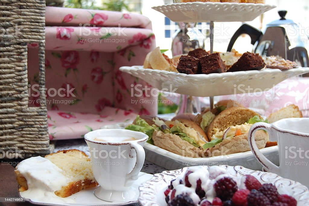 High Tea stock photo