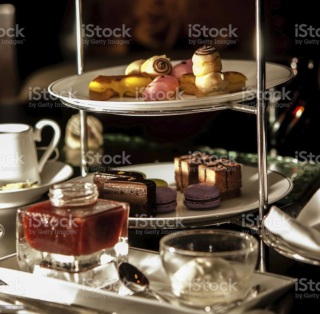 High tea set stock photo