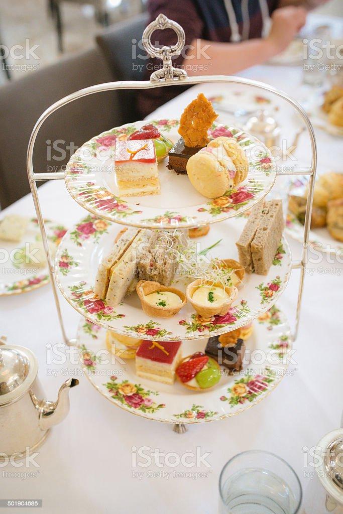 High Tea Tray stock photo