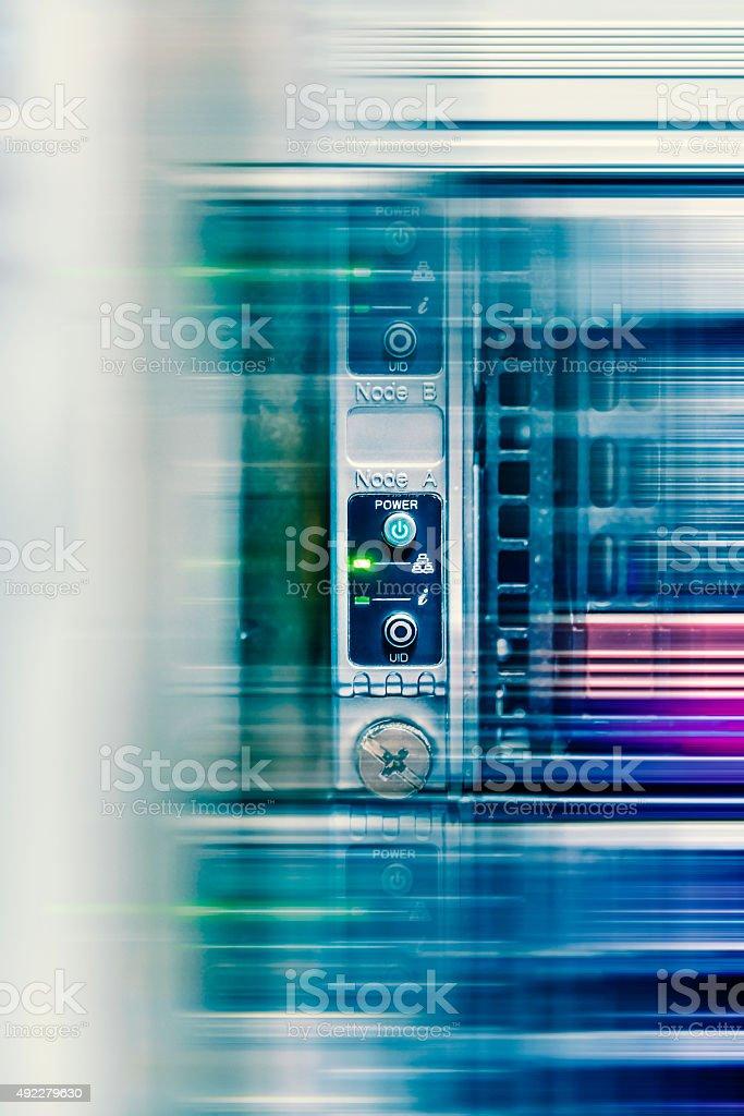 High Tech Network Data Security Center Background Stock