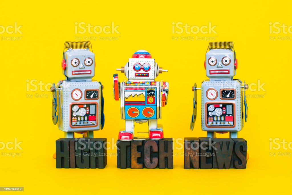 High Tech News with Vintage Robots - Royalty-free Alphabet Stock Photo