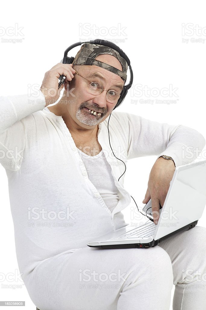 High Tech Red Neck stock photo