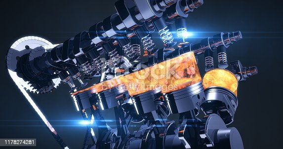 istock High Tech V8 Diesel Engine With Explosions - 3D Illustration Render 1178274281