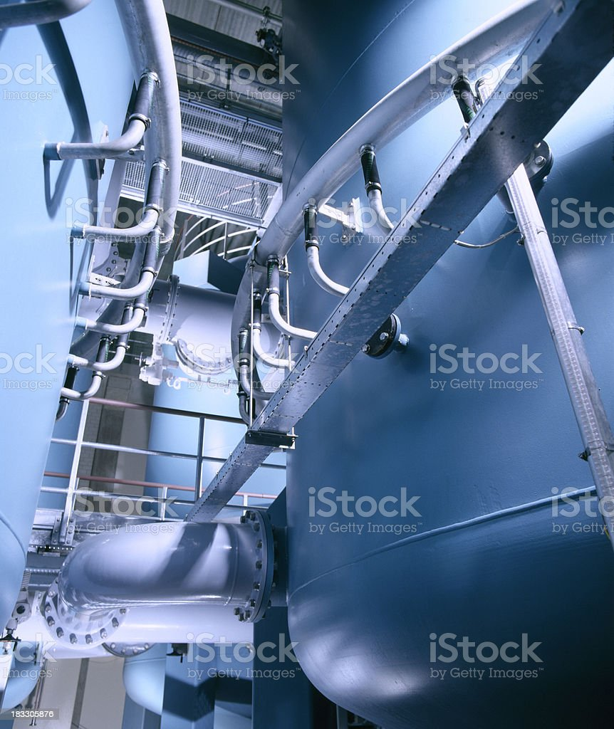 High tech water plant stock photo