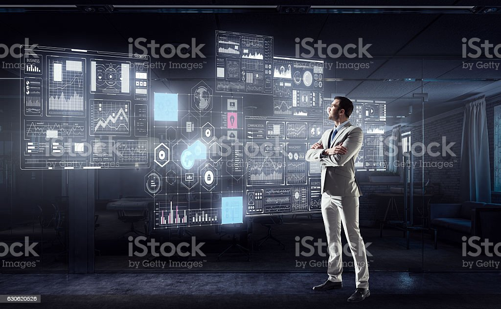 High technologies for your success . Mixed media stock photo