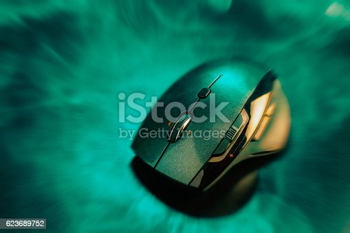 istock High technology computer gaming mouse 623689752