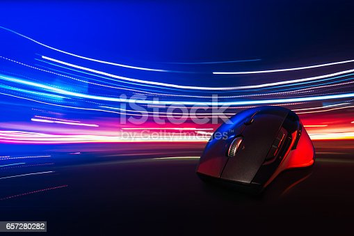 istock High technology computer gaming mouse 657280282