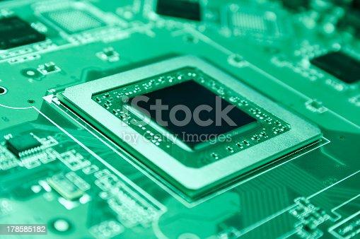 High technology GPU close up