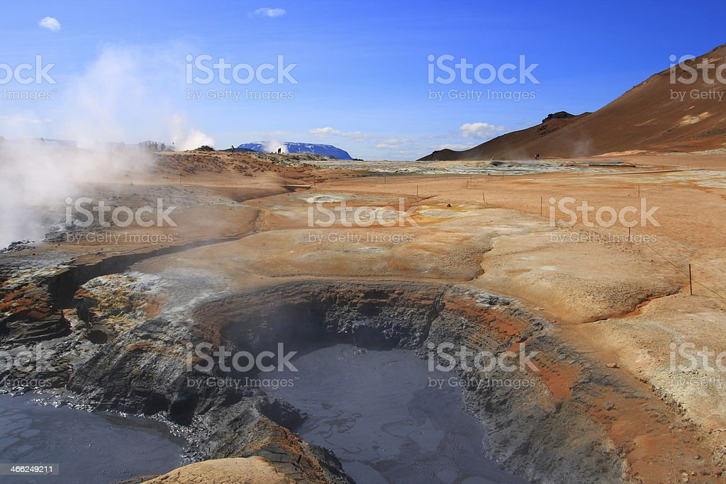 High temperature area Namaskard royalty-free stock photo