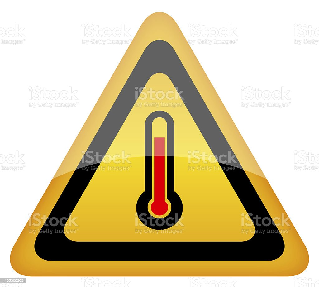 High temperature sign royalty-free stock photo