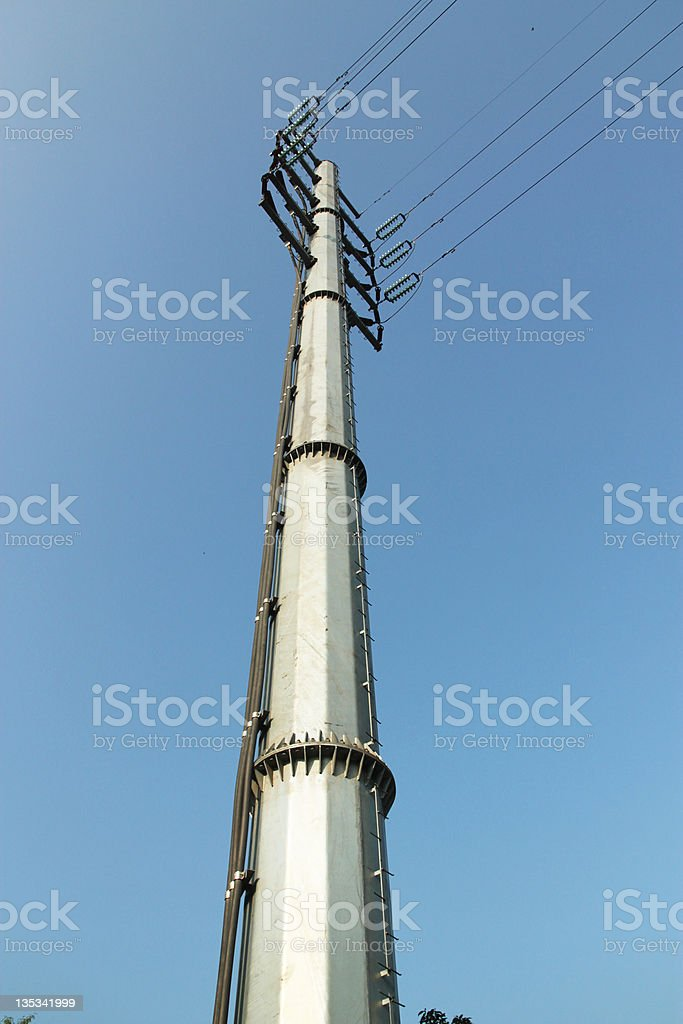 high tension line stock photo