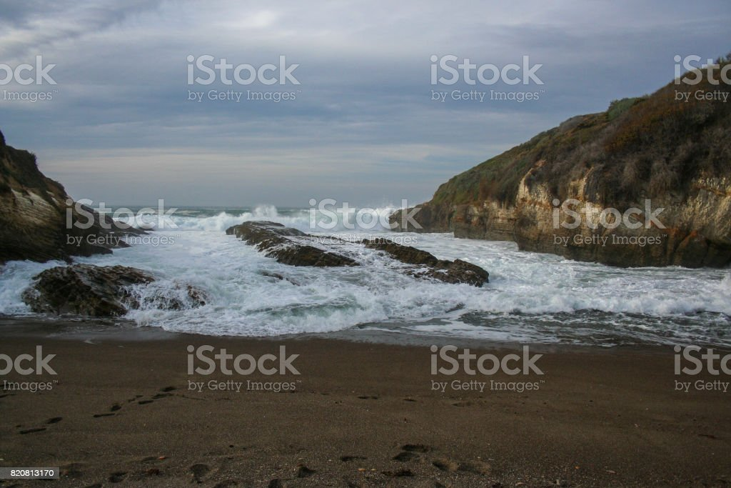 High tide stock photo
