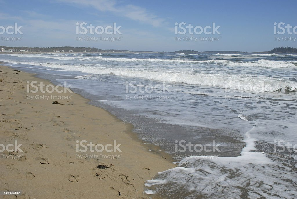 High tide surges along the Kennebec River royalty-free stock photo
