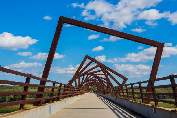 High Trestle Trail Bridge stock photo