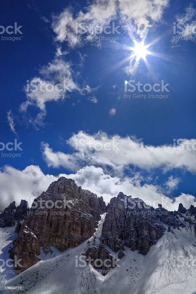 High up royalty-free stock photo