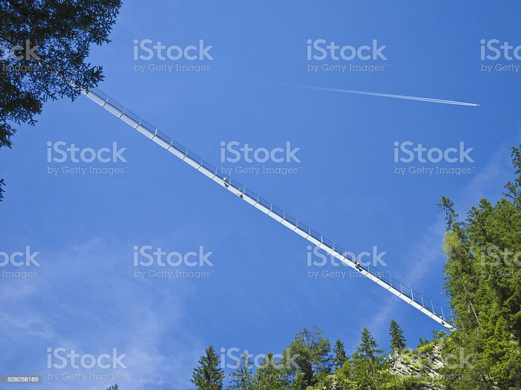 high up swing bridge stock photo